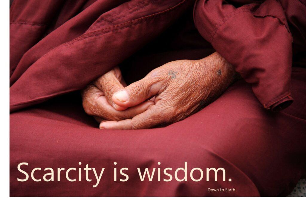 scarcity is wisdom